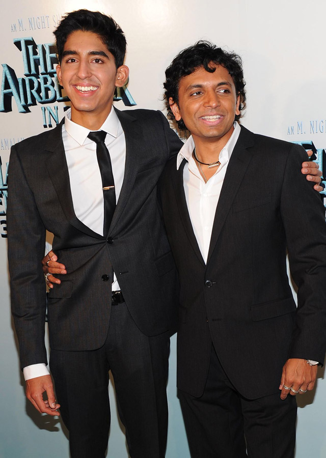 Manoj Night Shyamalan with Slumdog Millionaire actor Dev Patel