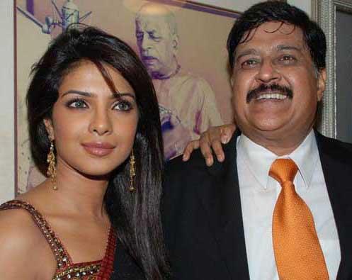 Priyanka Chopra seen with her dad
