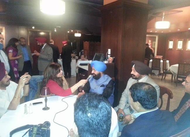 Punjab Congress chief Pratap Singh Bajwa speaking in Washington