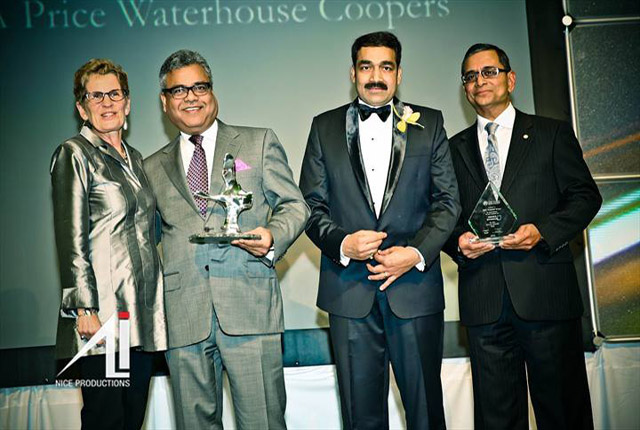 Raj Kothari (2nd from L) receives the Male Professional Award. Photo and caption by Irfan Ali.