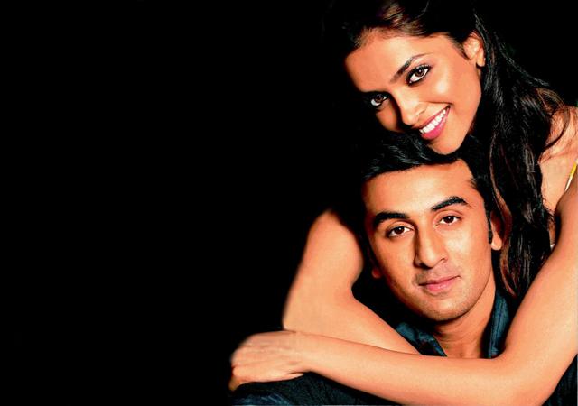 Ranbir in Deepika's arms