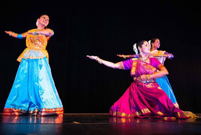 Sampradaya dancers performing at the Livings Arts Centre