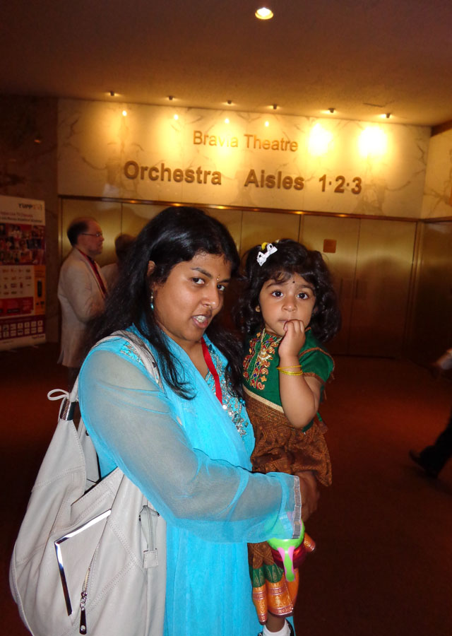 Amutha rom Boston with her little daughter Shobha