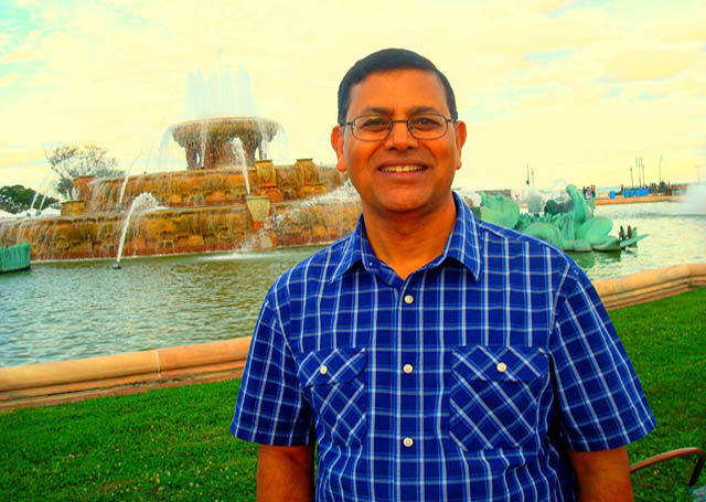 Ashok Bhargava- Under the sunset lights in Chicago