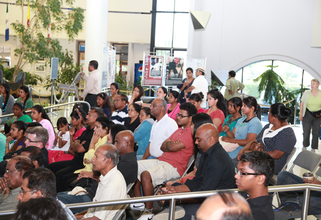 Many Canadian-born Tamils in the audience.