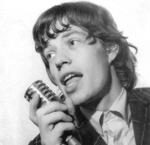 Mick Jagger with locks in his youth