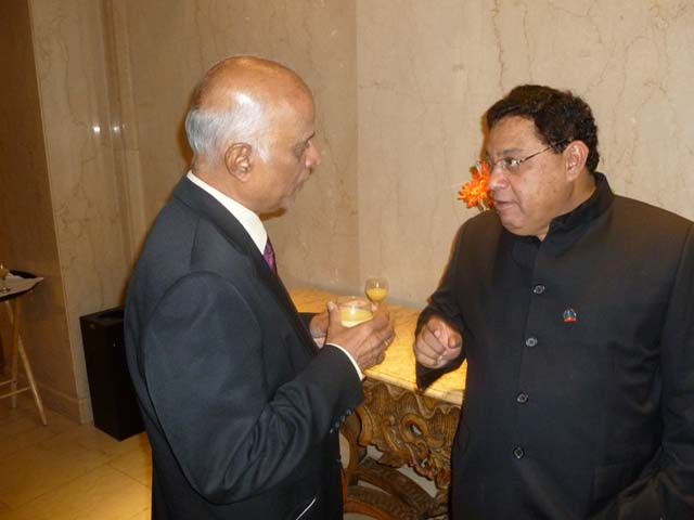 New CIF Chair Lucky Lakshmanan (left) seen with Vasu Chanchlani