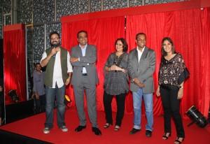 Producers of D Day ( L-R): Nikhil Advani, Arun Rangachari, Monisha Advani, Vivek Rangachari and Madhu Bhojwani