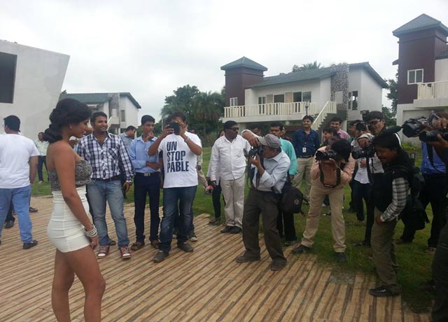 Poonam Pandey promoting her film Nasha