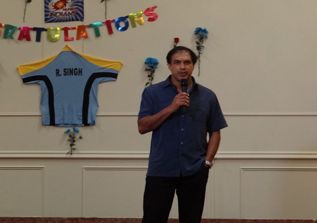 Robin Singh speaking