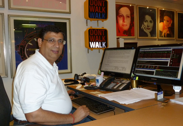 Suresh Madan in his arty office in downtown Toronto