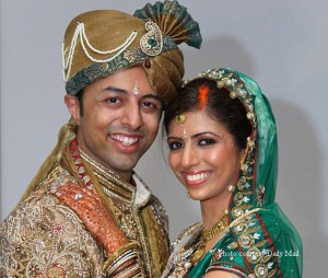 This wedding picture shows Shrien Dewani (left) who allegedly ordered the killing of his wife Anni during their honeymoon in South Africa.  copy