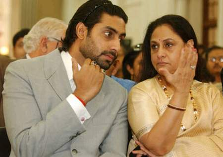 abhishek and jaya bachchan