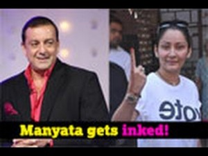 Manyata gets Sanjay's name tattooed!