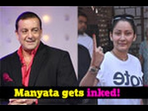 Manyata gets Sanjay's name tattooed!