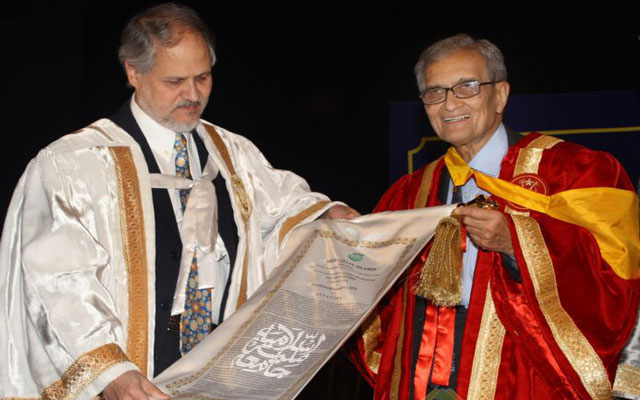 najeeb jung (left) with nobel laureate amartiya sen