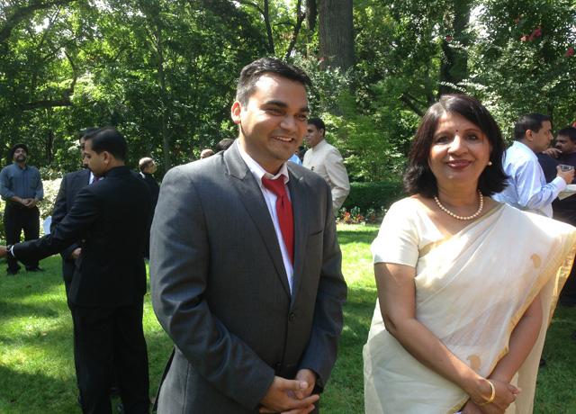 Ambassador Nirupama Rao mingling with the guests