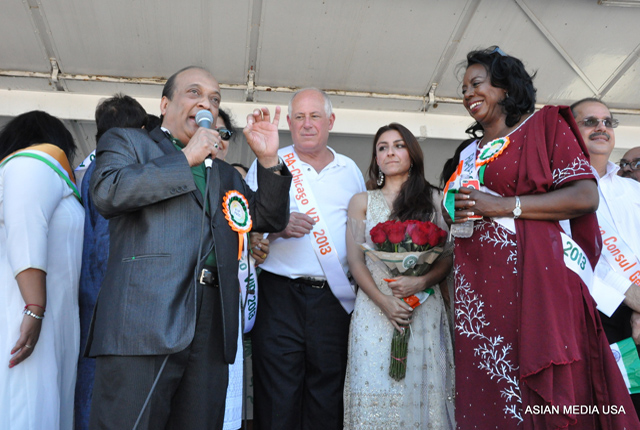 Speeches at the India Day parade in Chicago.