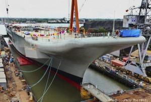 INS Vikrant at Cochin Shipyard.