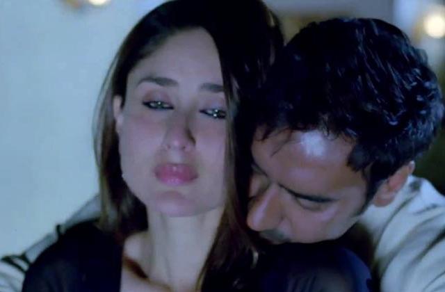 Kareena-KapoorAjay-Devgan get intimate in Satyagraha