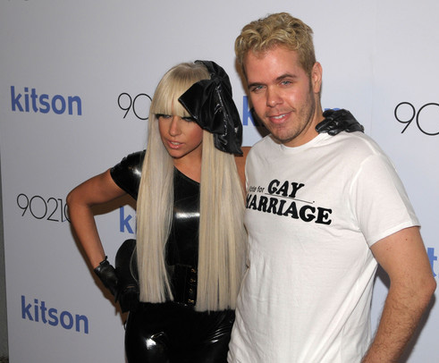 Lady Gaga and Perez Hilton - when they were chums