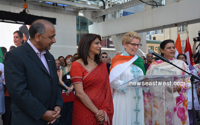 Premier Kathleen Wynne speaking at India Indendence day celebrations in Toronto on Aug 10, 2013 copy