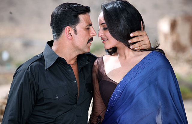 akshay and Sonakshi in Once Upon a Time..