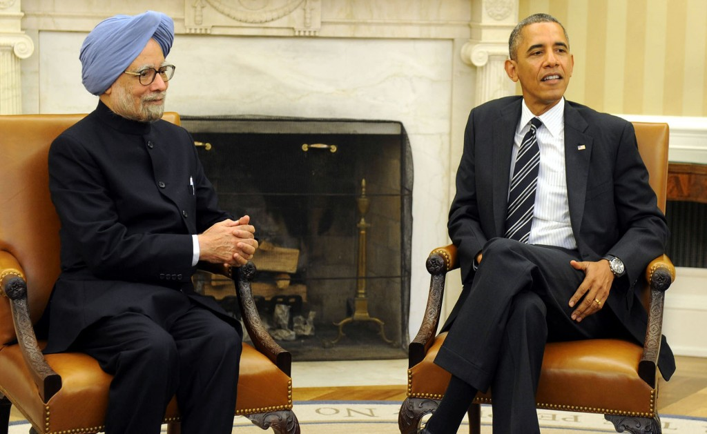 Manmohan Singh meets Obama in Washington