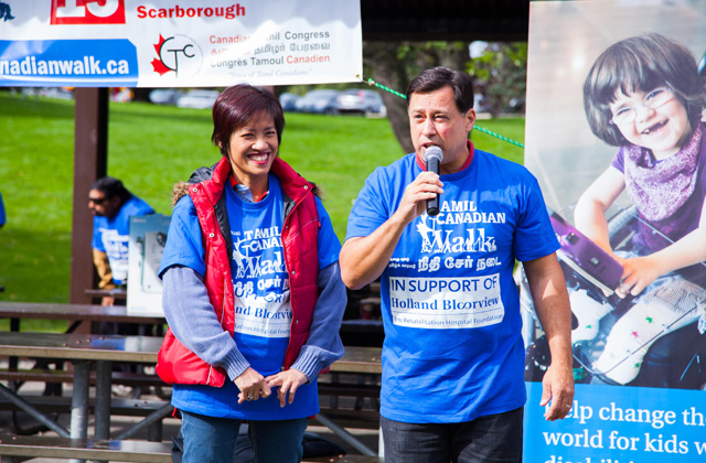 Minister Brad Duguid and SooWong, MPP for Scarborough-Agincourt at the walk-a-thon