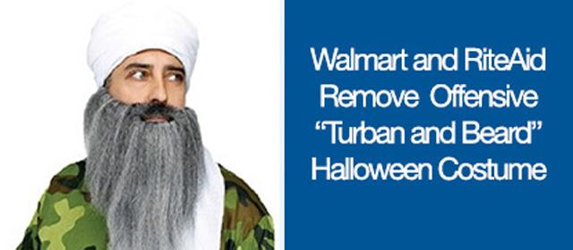 Osama halloween costume with turban and beard