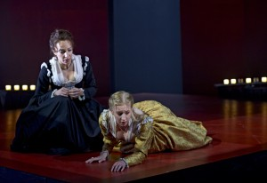 Deborah Hay (left) as Emilia and Bethany Jillard as Desdemona in Othello. Photo by Michael Cooper.