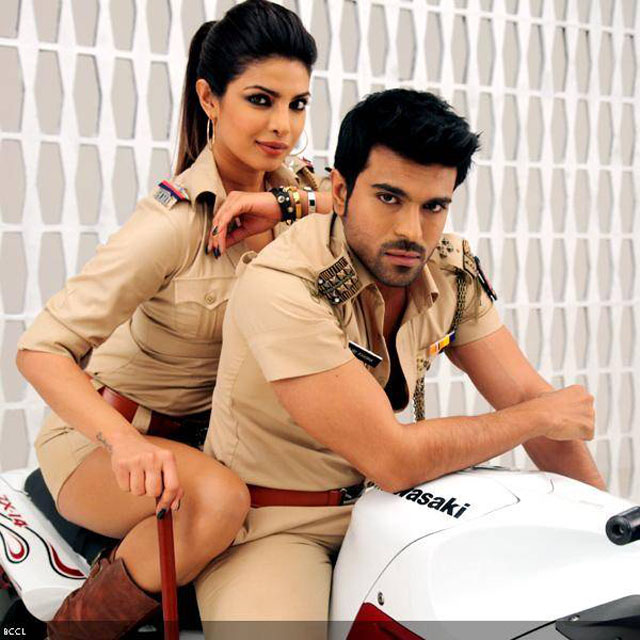 Priyanka Chopra and Ram Charan Teja in Zanjeer.