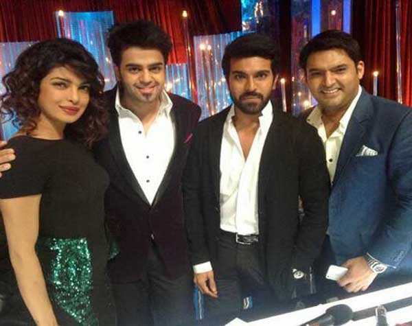 Ram Charan (second from right) at Indian Junior Idol