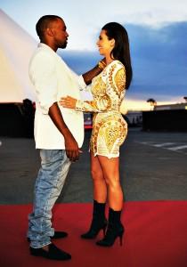 Kim Kardashian with boyfriend Kanye West