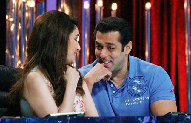 Salman khan with Madhuri Dixit