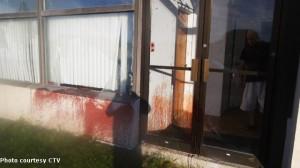 vandalized mosque