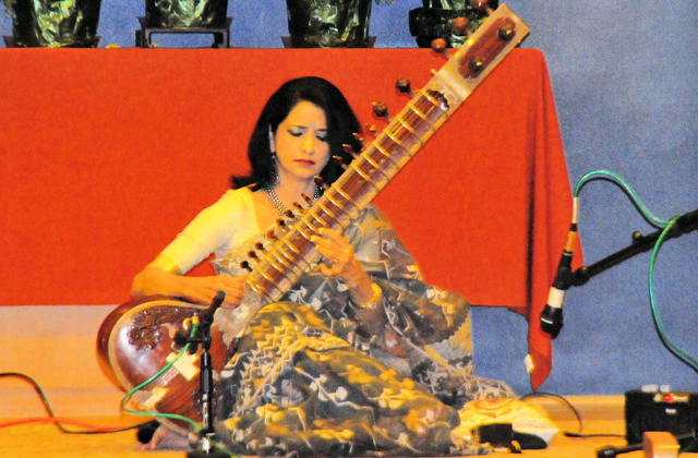 Alif Laila playing sitar