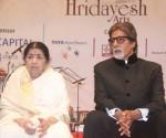 Amitabh Bachchan with Lata Mangeshkar