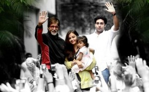 Amitabh with Aaradhya, Aish and Abhishek