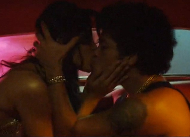 Freida Pinto in passionate kisses with Bruno in the video