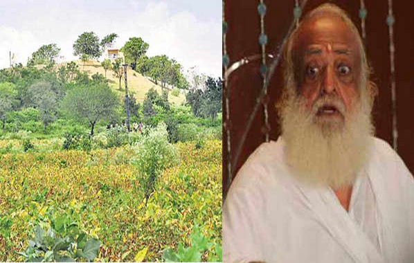 Godman Asaram Bapu and his secret ashram on the left