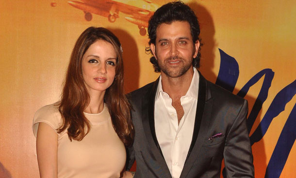 Hrithik Roshan with wife Suzanne
