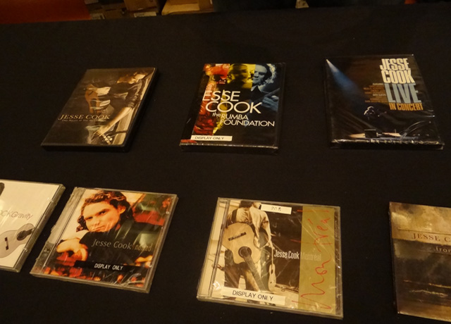 Jesse Cook's music and DVDs on display
