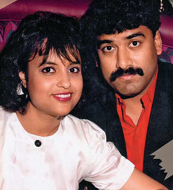 Kunal Saha seen with his wife Anuradha