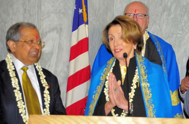 Nancy Pelosi at Diwali at Capitol Hill