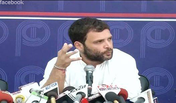 Rahul Gandhi at the press conference at the Press Club in delhi where he trashed the ordinance on convicted lawmakers.