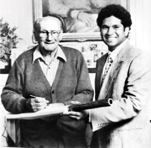 Sachin Tendulkar with Don Bradman