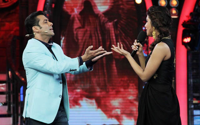 Priyanka with Salman on Bigg Boss