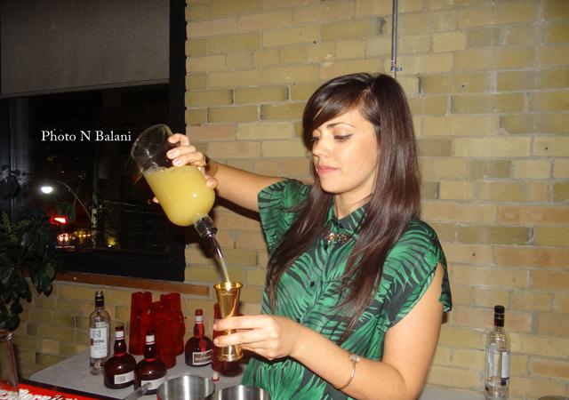 Sarah Parniak mixologist of Cold Tea lounge