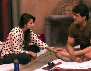 Tanisha with Armaan Kohli in Bigg Boss 7